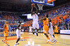 Florida center Patric Young jumps and attempts a dunk in the second half.  Florida Gators vs Tennessee Volunteers.  January 25, 2013.  Gator Country photo by David Bowie.