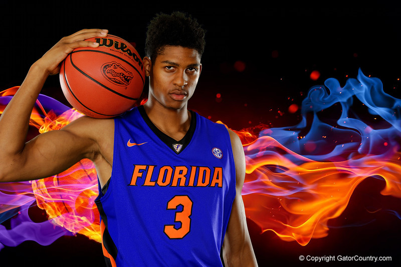 The Florida Gators basketball team poses for photos on Media Day.