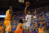 Florida Gators guard Kasey Hill with a lay up during the second half.  Florida Gators vs Tennessee Vols.  February 28th, 2015. Gator Country photo by David Bowie.