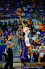 Florida Gators center Jon Horford wins the opening tip-off.  Florida Gators vs LSU Tigers.  January 20th, 2015. Gator Country photo by David Bowie.