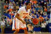 Florida Gators guard Kasey Hill dribbles up court during the second half.  Florida Gators vs LSU Tigers.  January 20th, 2015. Gator Country photo by David Bowie.