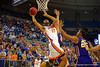 Florida Gators center Jon Horford leaps up toward the basket during the first half.  Florida Gators vs LSU Tigers.  January 20th, 2015. Gator Country photo by David Bowie.