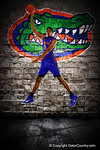 Florida Gators forward Devin Robinson poses during Florida Gators basketball media day.  Florida Gators Basketball Media Day.  October 15th, 2014. Gator Country photo by David Bowie.