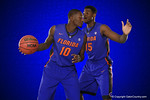 Florida Gators center John Egbunu and Dorian Finney-Smith pose during Florida Gators basketball media day.  Florida Gators Basketball Media Day.  October 15th, 2014. Gator Country photo by David Bowie.