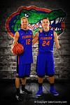 Florida Gators guards Dillon Graham and Zach Hodskins pose during Florida Gators basketball media day.  Florida Gators Basketball Media Day.  October 15th, 2014. Gator Country photo by David Bowie.