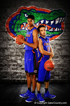 Florida Gators guard Chris Chiozza and forward Devin Robinson pose during Florida Gators basketball media day.  Florida Gators Basketball Media Day.  October 15th, 2014. Gator Country photo by David Bowie.