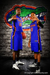 Florida Gators foward Dorian Finney-Smith and guard Kasey Hill pose during Florida Gators basketball media day.  Florida Gators Basketball Media Day.  October 15th, 2014. Gator Country photo by David Bowie.