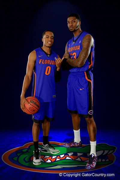 The Florida Gators basketball team poses for portraits during on Florida Gators basketball media day.