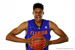 Florida Gators forward Devin Robinson poses during Florida Gators basketball media day.  Florida Gators Basketball Media Day.  October 15th, 2014. Gator Country photo by David Bowie.