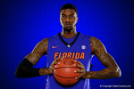 Florida Gators forward Chris Walker poses during Florida Gators basketball media day.  Florida Gators Basketball Media Day.  October 15th, 2014. Gator Country photo by David Bowie.