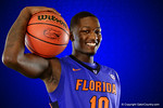 Florida Gators forward Dorian Finney-Smith poses during Florida Gators basketball media day.  Florida Gators Basketball Media Day.  October 15th, 2014. Gator Country photo by David Bowie.