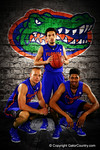 Florida Gators guard Chris Chiozza and forwards Jacob Kurtz and Devin Robinson pose during Florida Gators basketball media day.  Florida Gators Basketball Media Day.  October 15th, 2014. Gator Country photo by David Bowie.
