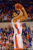 Florida Gators center Jon Horford with a shot attempt during the second half.  Florida Gators vs LSU Tigers.  January 20th, 2015. Gator Country photo by David Bowie.