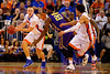 Florida Gators forward Jacob Kurtz looks to pass to Florida Gators guard Chris Chiozza during the first half.  Florida Gators vs LSU Tigers.  January 20th, 2015. Gator Country photo by David Bowie.