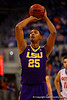 LSU Tigers forward Jordan Mickey takes a free throw during the second half.  Florida Gators vs LSU Tigers.  January 20th, 2015. Gator Country photo by David Bowie.
