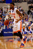 Florida Gators forward Chris Walker dribbling in the offensive zone during the second half.  Florida Gators vs LSU Tigers.  January 20th, 2015. Gator Country photo by David Bowie.