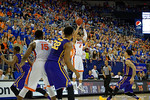 Florida Gators guard Brandone Francis-Ramirez shooting during the first half as the Florida Gators defeat the LSU Tigers 68-62 at the Stephen C. O'Connell Center.  January 9th, 2016. Gator Country photo by David Bowie.