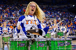 The University of Florida Drum Line during the first half as the Florida Gators defeat the LSU Tigers 68-62 at the Stephen C. O'Connell Center.  January 9th, 2016. Gator Country photo by David Bowie.