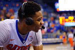 Florida Gators guard Justin Leon flashes a smile during a post game interview during the second half as the Florida Gators defeat the LSU Tigers 68-62 at the Stephen C. O'Connell Center.  January 9th, 2016. Gator Country photo by David Bowie.