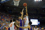 Florida Gators guard Justin Leon lays up a shot during the first half as the Florida Gators defeat the LSU Tigers 68-62 at the Stephen C. O'Connell Center.  January 9th, 2016. Gator Country photo by David Bowie.