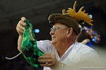 A Florida Gator fan waving around a green pair of underwear during LSU free throws during the first half as the Florida Gators defeat the LSU Tigers 68-62 at the Stephen C. O'Connell Center.  January 9th, 2016. Gator Country photo by David Bowie.