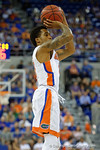 Florida Gators guard Kasey Hill shoots during the second half as the Florida Gators defeat the LSU Tigers 68-62 at the Stephen C. O'Connell Center.  January 9th, 2016. Gator Country photo by David Bowie.