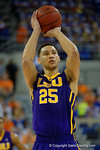 LSU Tigers forward Ben Simmons shooting a free throw during the first half as the Florida Gators defeat the LSU Tigers 68-62 at the Stephen C. O'Connell Center.  January 9th, 2016. Gator Country photo by David Bowie.