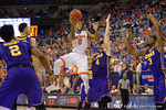 Florida Gators guard Kasey Hill drives to the basket during the second half as the Florida Gators defeat the LSU Tigers 68-62 at the Stephen C. O'Connell Center.  January 9th, 2016. Gator Country photo by David Bowie.
