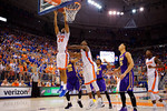 Florida Gators guard Justin Leon lays in a basket during the first half as the Florida Gators defeat the LSU Tigers 68-62 at the Stephen C. O'Connell Center.  January 9th, 2016. Gator Country photo by David Bowie.