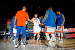 Florida Gators guard Chris Chiozza introduced during the first half as the Florida Gators defeat the LSU Tigers 68-62 at the Stephen C. O'Connell Center.  January 9th, 2016. Gator Country photo by David Bowie.