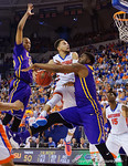 Florida Gators guard Chris Chiozza leaps toward the basket during the second half as the Florida Gators defeat the LSU Tigers 68-62 at the Stephen C. O'Connell Center.  January 9th, 2016. Gator Country photo by David Bowie.