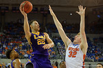 LSU Tigers forward Ben Simmons lays in a shot during the first half as the Florida Gators defeat the LSU Tigers 68-62 at the Stephen C. O'Connell Center.  January 9th, 2016. Gator Country photo by David Bowie.