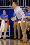 Florida Gators head coach Mike White during the first half as the University of Florida Gators win at home over the Vermont Catamounts 86-62.  Florida Gators vs Vermont Catamounts.  November 25th, 2015. Gator Country photo by David Bowie.
