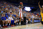 Florida Gators guard Kasey Hill shoots during the second half as the University of Florida Gators win at home over the Vermont Catamounts 86-62.  Florida Gators vs Vermont Catamounts.  November 25th, 2015. Gator Country photo by David Bowie.