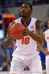 Florida Gators forward Dorian Finney-Smith at the free throw line during the first half as the University of Florida Gators win at home over the Vermont Catamounts 86-62.  Florida Gators vs Vermont Catamounts.  November 25th, 2015. Gator Country photo by David Bowie.