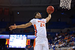 Florida Gators guard Justin Leon with a monster dunk during the second half as the University of Florida Gators win at home over the Vermont Catamounts 86-62.  Florida Gators vs Vermont Catamounts.  November 25th, 2015. Gator Country photo by David Bowie.