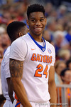 Florida Gators guard Justin Leon flashes a smile during the second half as the University of Florida Gators win at home over the Vermont Catamounts 86-62.  Florida Gators vs Vermont Catamounts.  November 25th, 2015. Gator Country photo by David Bowie.