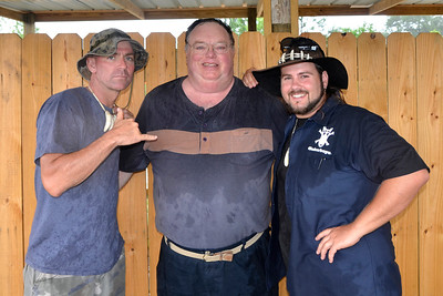 Picture of Paul, myself and Jimmy from the show the Gator Boys.