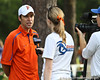 Florida cross country coach Todd Morgan talks to reporters during the Mountain Dew Invitational on Saturday, September 24th, 2011 at the Mark Bostick Golf Course in Gainesville, Fla. / Gator Country photo by Rob Foldy
