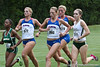 Florida runners Stephanie Strasser, Callie Cooper, and Grace VanDeGrift compete during the Mountain Dew Invitational on Saturday, September 24th, 2011 at the Mark Bostick Golf Course in Gainesville, Fla. / Gator Country photo by Rob Foldy