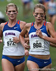 Florida runners Stephanie Strasser and Callie Cooper compete during the Mountain Dew Invitational on Saturday, September 24th, 2011 at the Mark Bostick Golf Course in Gainesville, Fla. / Gator Country photo by Rob Foldy
