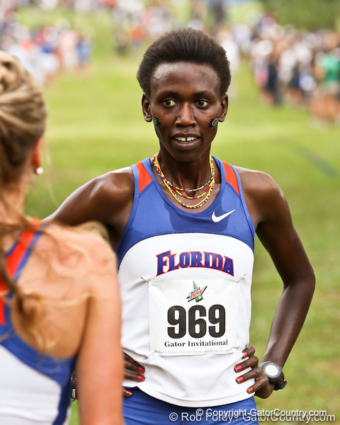 Florida runner Florence N'Getich during the Mountain Dew Invitational on Saturday, September 24th, 2011 at the Mark Bostick Golf Course in Gainesville, Fla. / Gator Country photo by Rob Foldy
