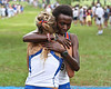 Florida runner Genevive LaCaze embraces teammate Florence N'Getich after finishing first and second (respectively) at the Mountain Dew Invitational on Saturday, September 24th, 2011 at the Mark Bostick Golf Course in Gainesville, Fla. / Gator Country photo by Rob Foldy