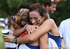 Florida runners embrace during the Mountain Dew Invitational on Saturday, September 24th, 2011 at the Mark Bostick Golf Course in Gainesville, Fla. / Gator Country photo by Rob Foldy