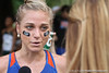 Florida runner Genevieve LaCaze talks with reporters during the Mountain Dew Invitational on Saturday, September 24th, 2011 at the Mark Bostick Golf Course in Gainesville, Fla. / Gator Country photo by Rob Foldy