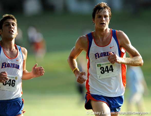 photo by Casey Brooke Lawson<br /> <br /> University of Florida Cross Country Men (8K) and Women (5K) win the Mountain Dew Invitational for fourth straight year on Saturday, September 20, 2008 at the University Golf Course in Gainesville, Fla.<br /> <br /> 080920_SmithDrew_2051_CBLawson