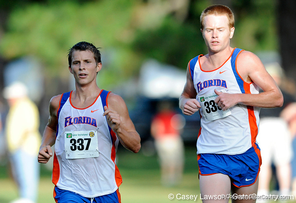 photo by Casey Brooke Lawson<br /> <br /> University of Florida Cross Country Men (8K) and Women (5K) win the Mountain Dew Invitational for fourth straight year on Saturday, September 20, 2008 at the University Golf Course in Gainesville, Fla.<br /> <br /> 080920_HensleyMattBlaneySean_2073_CBLawson