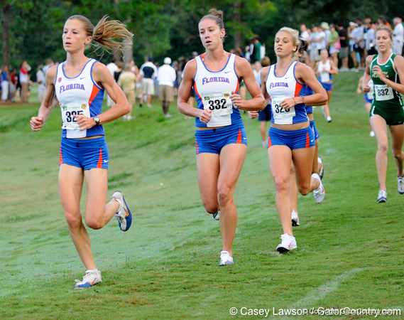 photo by Casey Brooke Lawson<br /> <br /> University of Florida Cross Country Men (8K) and Women (5K) win the Mountain Dew Invitational for fourth straight year on Saturday, September 20, 2008 at the University Golf Course in Gainesville, Fla.<br /> <br /> 080920_KruzelJacyShiverKaitlin_6206_CBLawson