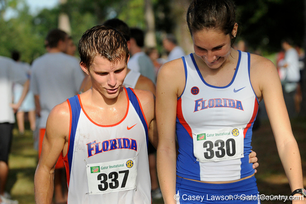 photo by Casey Brooke Lawson<br /> <br /> University of Florida Cross Country Men (8K) and Women (5K) win the Mountain Dew Invitational for fourth straight year on Saturday, September 20, 2008 at the University Golf Course in Gainesville, Fla.<br /> <br /> 080920_HensleyMattNorthrupJulie_6333_CBLawson