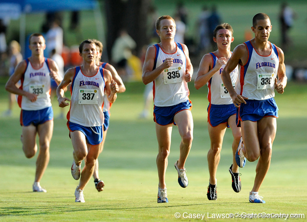 photo by Casey Brooke Lawson<br /> <br /> University of Florida Cross Country Men (8K) and Women (5K) win the Mountain Dew Invitational for fourth straight year on Saturday, September 20, 2008 at the University Golf Course in Gainesville, Fla.<br /> <br /> 080920_CriscioneJeremyHensleyMatt_2039_CBLawson